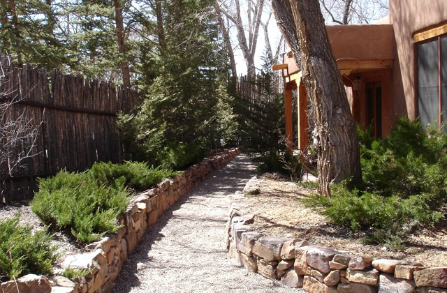 Rock Wall Pathway